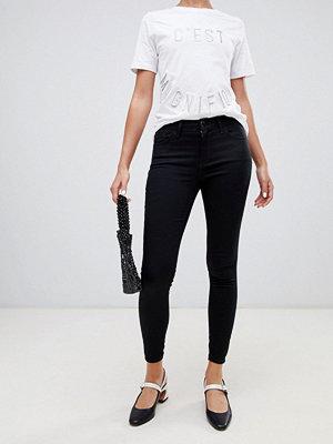 River Island Amelie Svarta superskinny jeans med medelhög midja