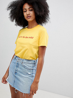 Adolescent Clothing T-shirt born to be mild Yellow/red