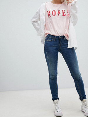 Blend She Nova Sahia Skinny jeans Mellan mörk
