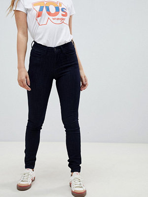 Wrangler Skinny jeans med hög midja Bruised blue