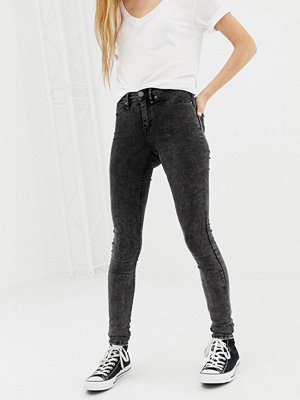 Blend She Moon Play skinny jeans Blk washed denim