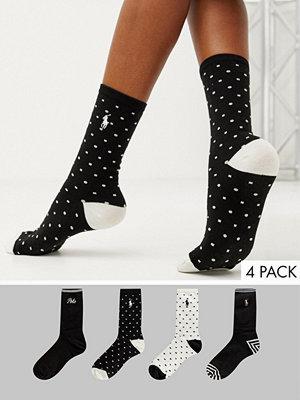Polo Ralph Lauren Prickiga strumpor med logga i 4-pack