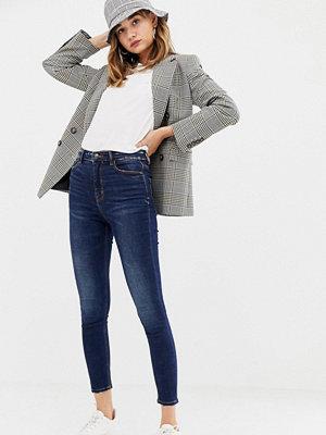 Stradivarius Blå jeans med extra hög midja och smal passform