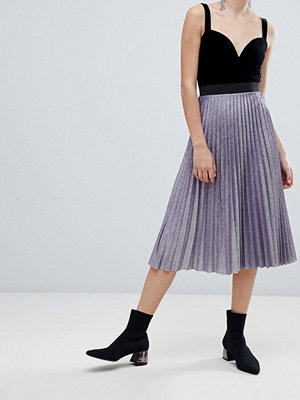 Bershka Plisserad metallic-kjol