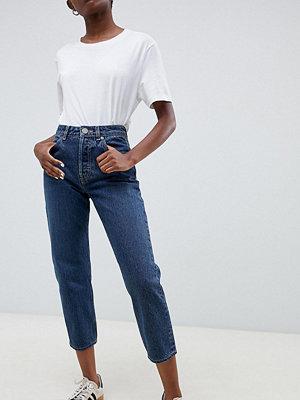 ASOS Petite Blå jeans med raka ben London-blåtvätt