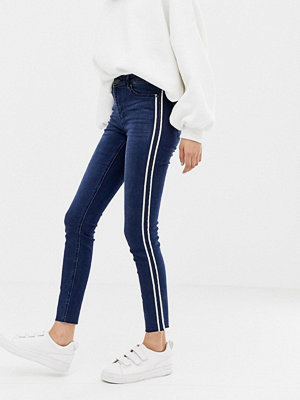 Only Skinny jeans med sidopanel Mellanblå denim