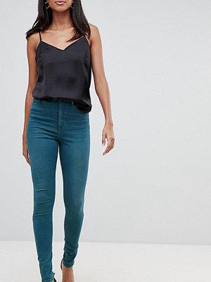 Asos Tall Ridley skinny gröna jeans med hög midja Grönblå