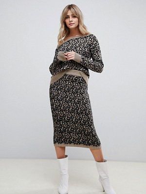 ASOS DESIGN Leopardkjol i set