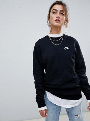 Tröjor - Nike Club Svart sweatshirt med rund halsringning
