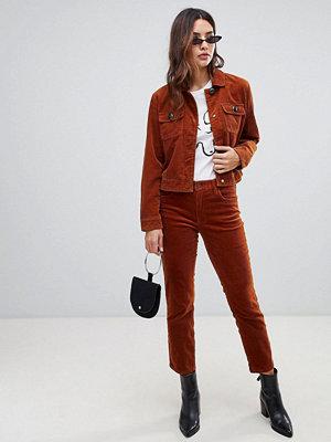 Blank NYC Jeans i manchestertyg med smal passform Clockwork copper