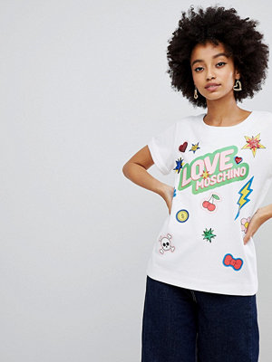 Love Moschino T-shirt med tryck