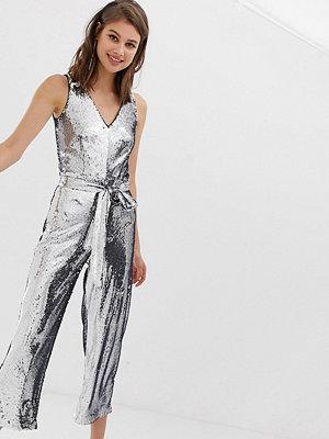 Warehouse Jumpsuit med silverpaljetter Tenn