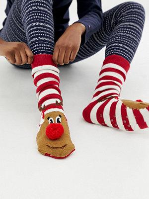 New Look Toffelstrumpor med Rudolf-motiv Klarröd