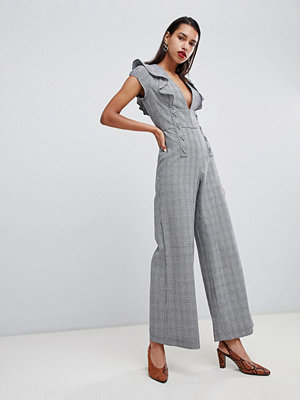 Jumpsuits & playsuits - Current Air Rutig jumpsuit Svart