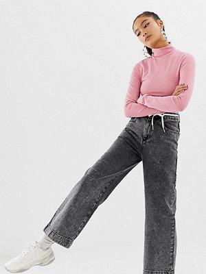 Collusion Svarta jeans med vida ben Tvättad svart