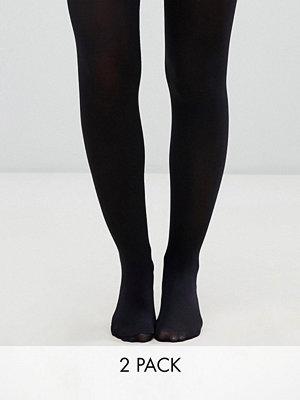 Monki 2-pack svarta tights