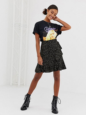 Soaked in Luxury Metallic-fläckig kjol med rynkning