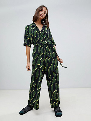 Weekday Skräddarsydd jumpsuit med mönster Print big shapes