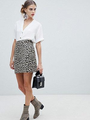 New Look Leopardmönstrad kjol Brunt mönster