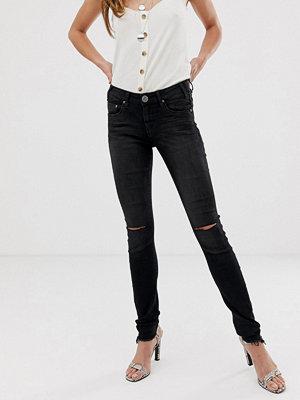 One Teaspoon Hoodlum Skinny jeans med slitna knän Jett black