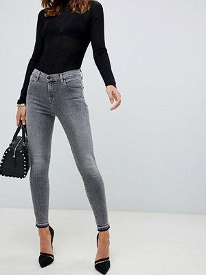 J Brand Alana Korta skinny jeans med hög midja Earl grey