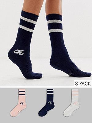 Strumpor - Nike Sb Flerfärgade träningsstrumpor i 3-pack Flerfärgad
