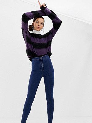 Collusion Tall x002 Mörkblå tvättade jeans med hög midja i vår smalaste passform Mörkblå
