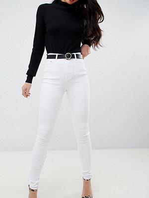 Asos Tall Ridley Vita skinny jeans med hög midja