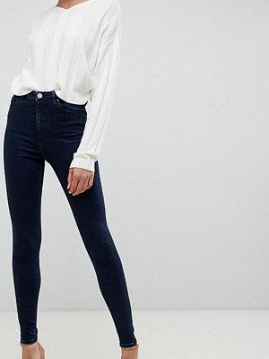 Asos Tall Ridley Mörkblå jeans med hög midja och smal passform Mörkblå