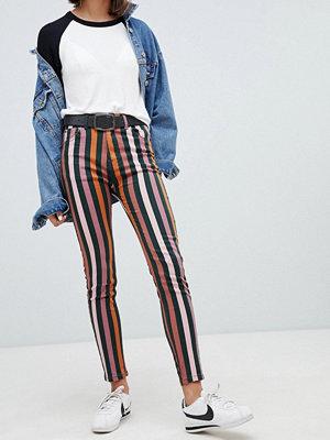 Pull&Bear Randiga jeans med extra smal passform