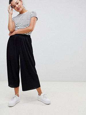 ASOS DESIGN Plisserade culotte-byxor
