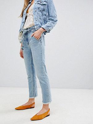 Free People Hi & Belted Rakt skurna jeans