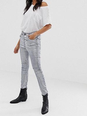 One Teaspoon Kidds Metallic-färgade skinny jeans Nightshade