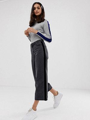 Only Sonny Vida jeans med sidorand i sammet Grå denim