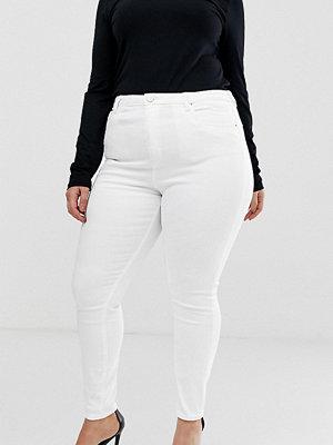 ASOS Curve Ridley Vita skinny jeans med hög midja