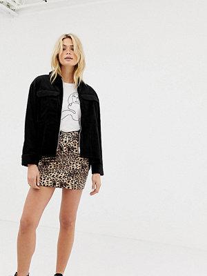 Parisian Tall Leopardmönstrad kjol Leopard