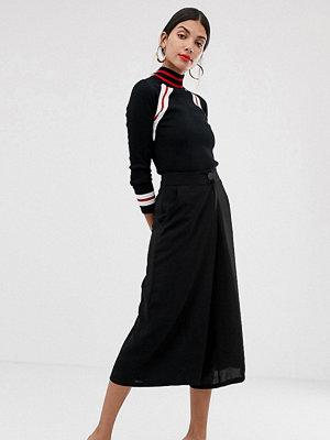 Vero Moda Tall Svarta culottebyxor med hög midja