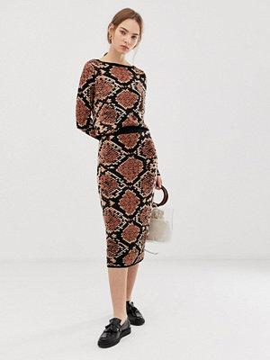 ASOS DESIGN Ormskinnsmönstrad kjol