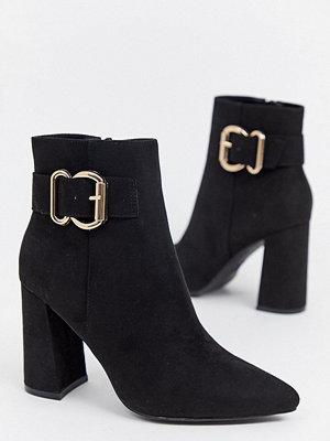 New Look Boots med klack och spänne