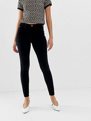 River Island Molly Svarta skinny jeans i sammet