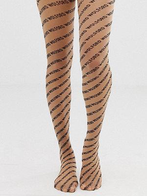 Wolford Tights med mönsterlogga Beige/svart