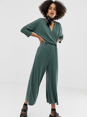 Monki Grön jumpsuit i jersey