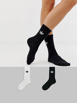 Adidas Originals Ankelhöga strumpor i 2-pack