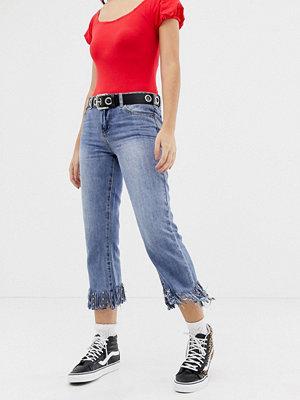 Glamorous Jeans med fransad fåll Mid
