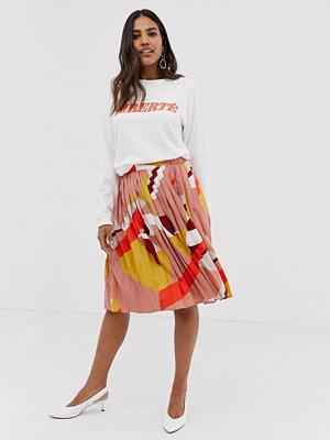 Vila Mönstrad kjol med plissering Geometriskt mönster
