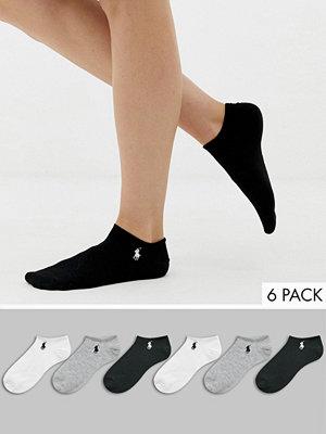 Polo Ralph Lauren 3-pack med låga sportstrumpor Grå/vit/svart