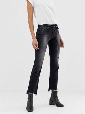 Jeans - Replay Touch Svarta jeans med hög midja och smal passform