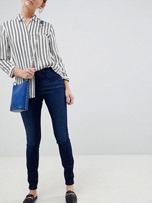 Jdy Ulle Skinny jeans med medelhög midja Mörkblå