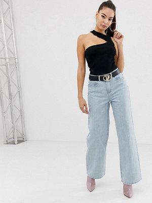 Missguided Blå jeans med vida ben