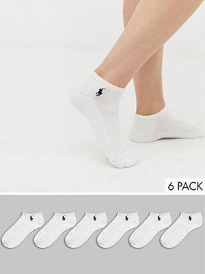 Polo Ralph Lauren 6-pack låga träningsstrumpor med hälkudde